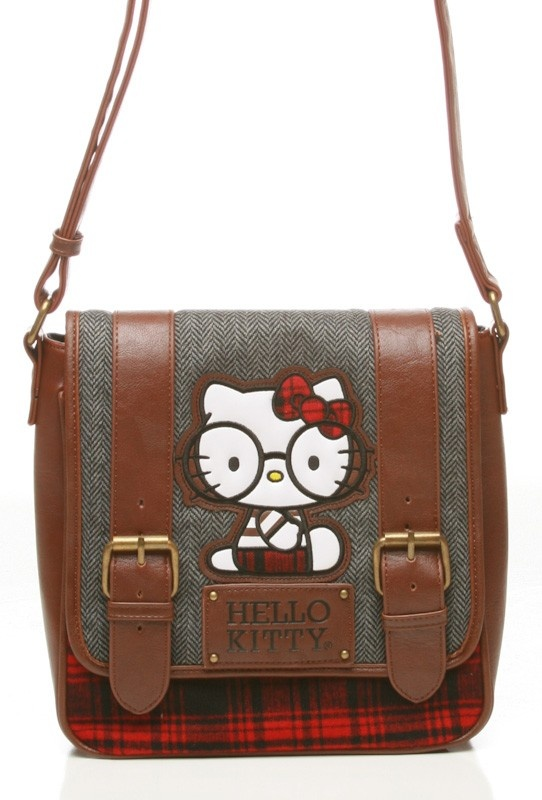435a4d991f56 Hello Kitty Nerd Plaid Belted Crossbody  65