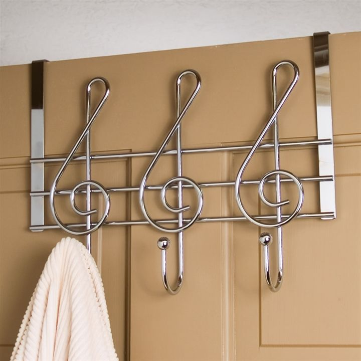 Treble Clef Hooks Metal Door Hanger