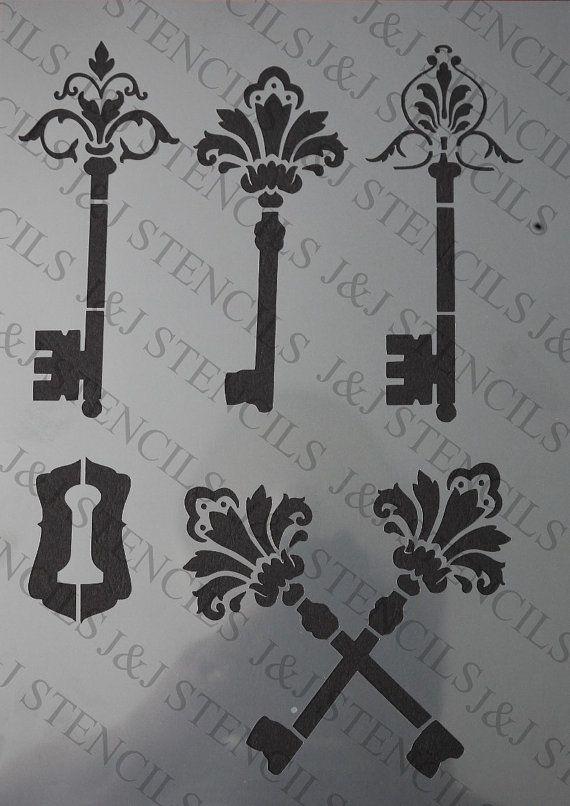 Stencil Fancy Keys
