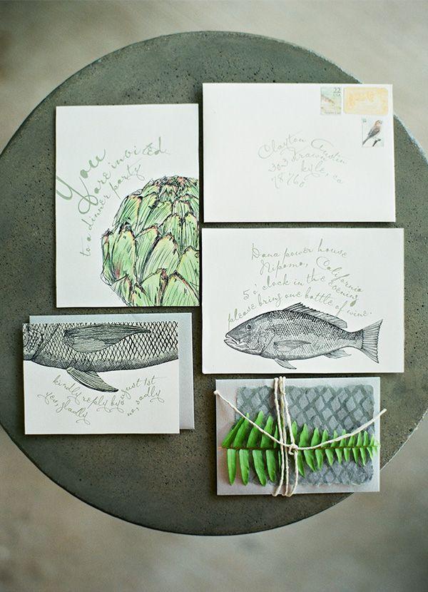 fish and veggie invitation 119 best design