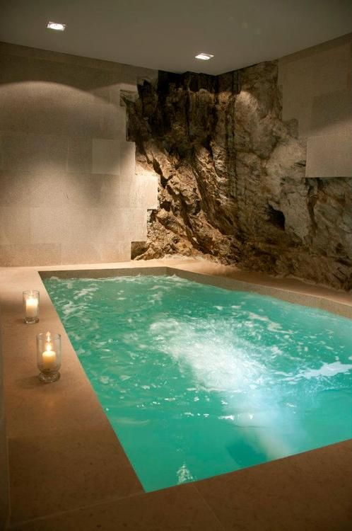 Underground, indoor hot tub. My first year of having a real job will be going to this.