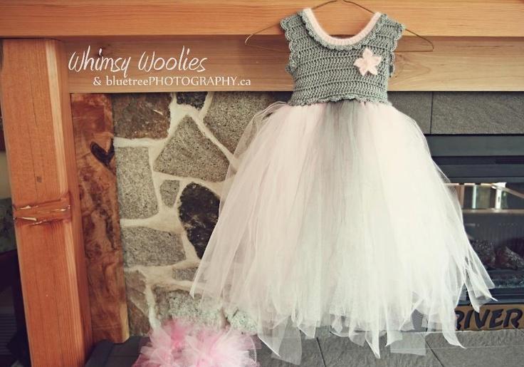 Crochet Pattern For Flower Girl Dress : Crochet Pattern: Coralie Dress, Crochet & Tulle Party Tutu ...