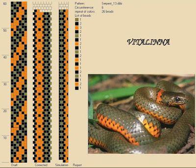 """VITALINNA: Mon """"serpentarium"""" 1 (motifs pour les colliers au ..."""
