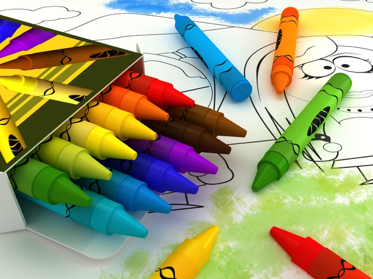 Crayons Amp Coloring Book