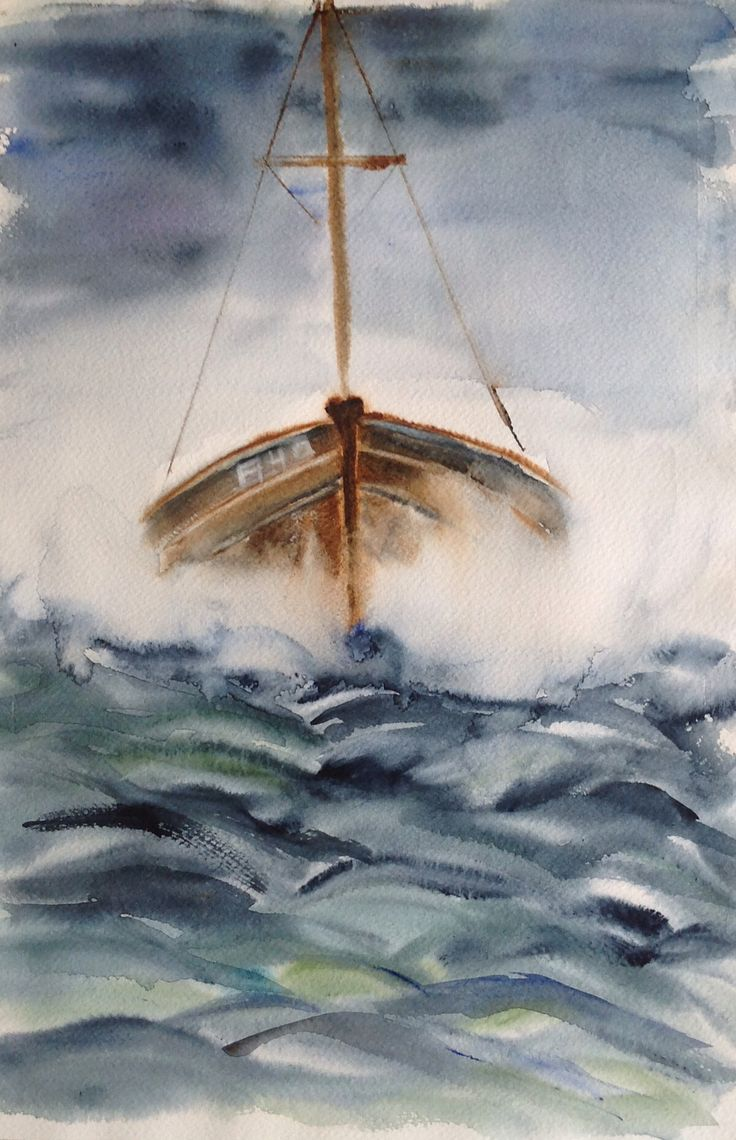 Watercolor, Back home II, 2016, Olavi Alanko