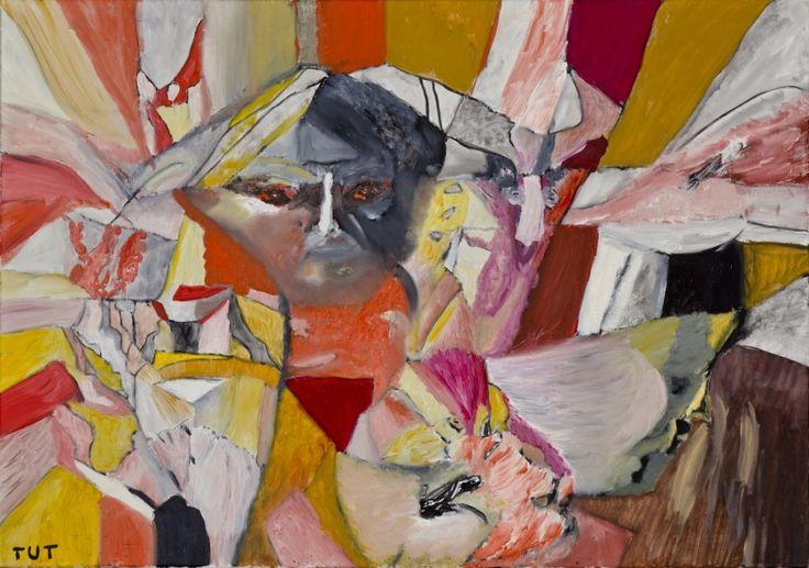 Wojciech Tut Chechliński, Kontemplacja, olej na płótnie, 70 x 100 cm, 2012 r, sygnowany (kat. 073)