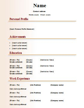 Best 25 english cv template ideas on pinterest cv english job resume template sample get professional resume format yelopaper Choice Image