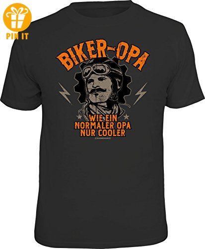 Original RAHMENLOS® T-Shirt für den Biker Großvater: Biker Opa - wie ein normaler Opa, nur cooler Größe XL, Nr.6162 - T-Shirts mit Spruch | Lustige und coole T-Shirts | Funny T-Shirts (*Partner-Link)