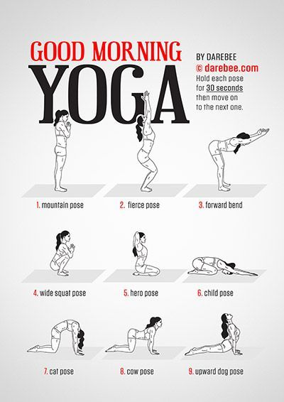 Good Morning Yoga kostenloses Training von Darebee…