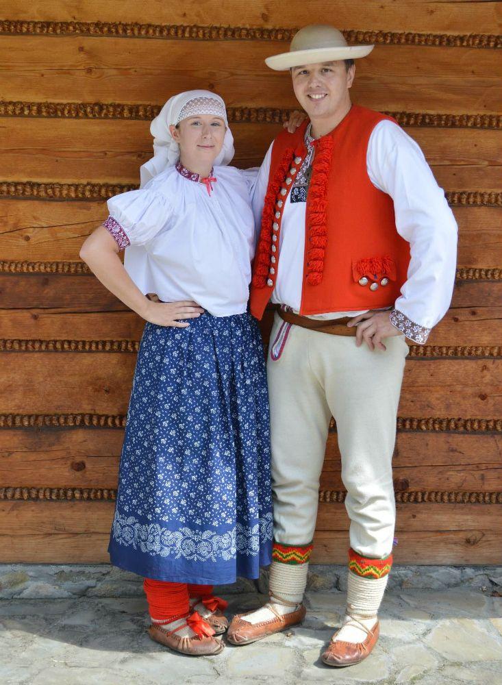 Folk costumes from Beskid Śląski (Silesian Beskids mountain range), Poland.