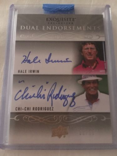 Golf Cards 4240: 2013 Upper Deck Exquisite Dual Auto Hale Irwin Chi-Chi Rodriguez 12 25 -> BUY IT NOW ONLY: $40 on eBay!