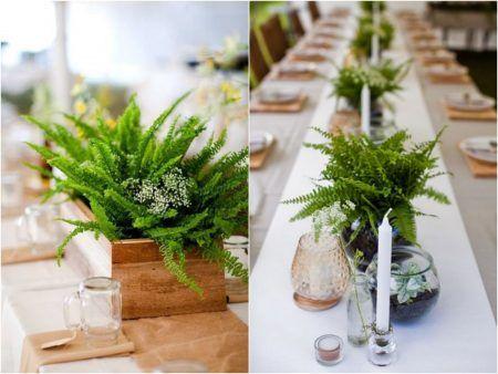 Decoração de Casamento com Samambaia | Blog de Casamento DIY da Maria Fernanda