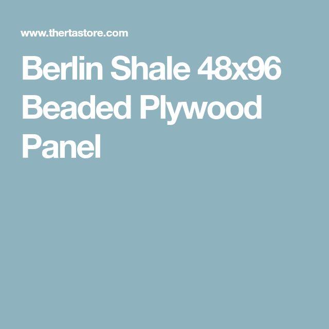 Berlin Shale 48x96 Beaded Plywood Panel