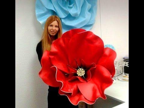 Мастер класс- большие цветы из изолона( фоамирана).How to Make GIANT Tis...