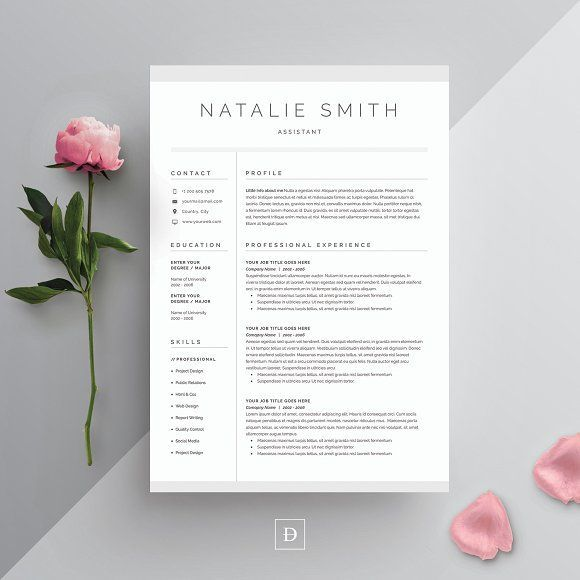 Word Resume & Cover Letter Template by DemeDev on @creativemarket