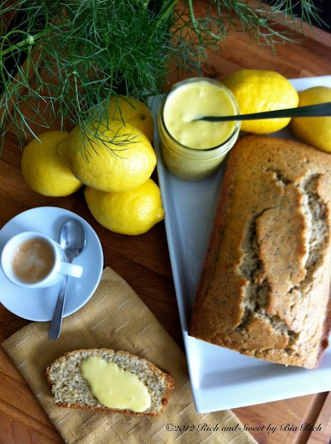 Lemon poppy seed bread with fresh lemon curd | Recipes ...