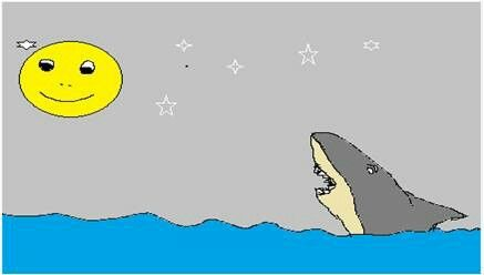 Short Fable Story: Shark vs Moon http://fablefantasy.com/a-small-story-for-kids-the-fable-of-shark-and-the-full-moon/ #fablestory #shortstory #zen #moralstory #fable #sharktale