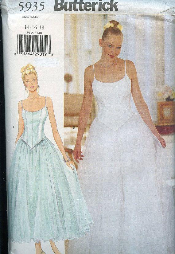 Vintage Butterick Ballerina Style Wedding Gown Pattern