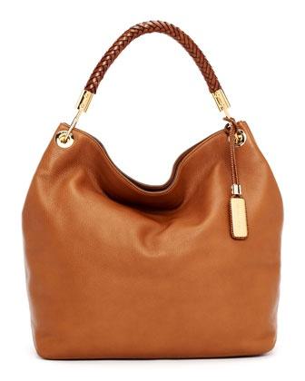 Michael Kors Large Skorpios Textured Leather Shoulder Bag