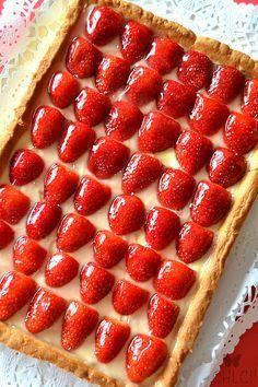 ^^  Tarta de fresas y crema pastelera | Strawberry tart & pastry cream | receta con Thermomix