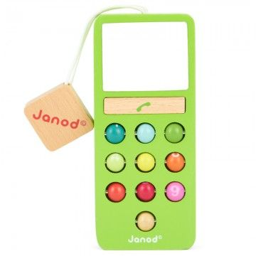 Janod Green Wooden Mobile Phone