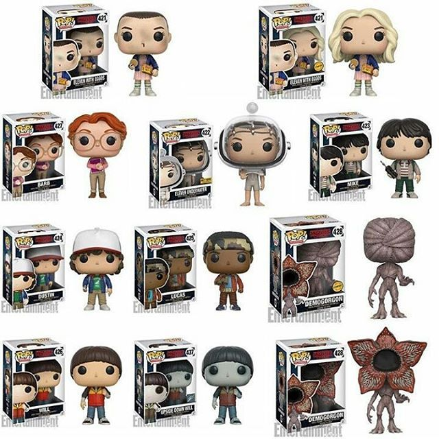 Stranger Things Pop thanks to Entertainment Weekly Coming early 2017 ° ° ° °that demogorgon (chase)looks sick  #strangerthings #funkopop #funkopops #funko