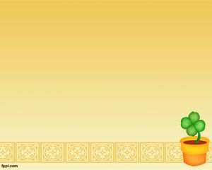 Free Plant PowerPoint Template over orange background color