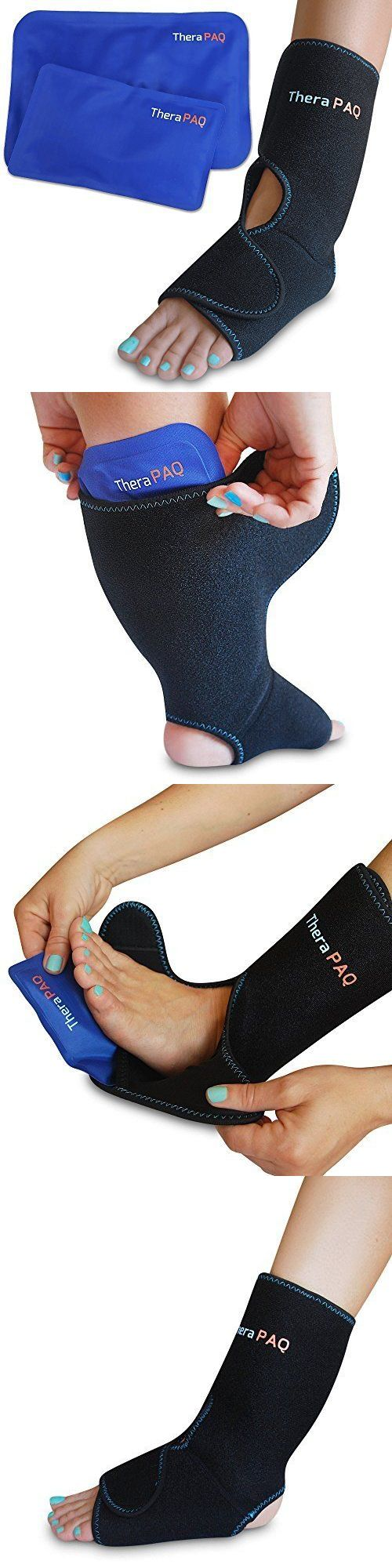 Cold and Hot Packs and Wraps: Foot Ankle Pain Relief Ice Wrap 2 Hot Cold Gel Pack Adjustable Velcro Breathable BUY IT NOW ONLY: $41.99