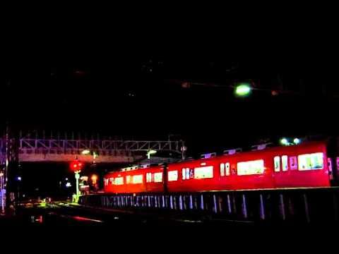 西枇杷島駅 夜