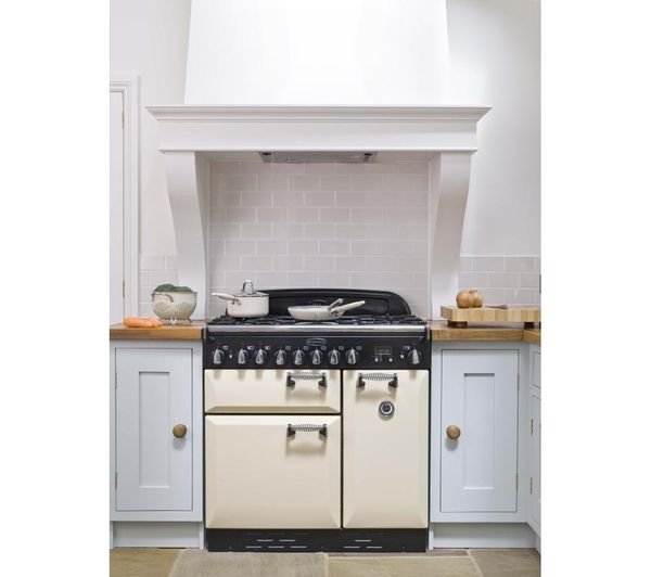 Buy RANGEMASTER Elan 90 Dual Fuel Range Cooker - Cream & Chrome | Free Delivery | Currys