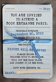 Book exchange partyChristmas Parties, Invitations, Book Parties, Party'S Great Ideas, Awesome Ideas, Fun Ideas, Exchange Parties, Book Exchange, Exchanging Books