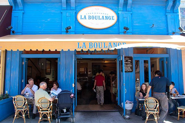 Outdoor seating at quaint cafes. Without which, I wouldn't be the man I am today.French Bakeries, Boulanger San, Boulanger Bakeries, Outdoor, Delicious Breads, Food Places, Bakeries Tempting, Classic French, San Francisco