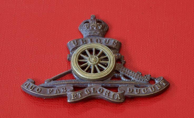 WWI Royal Artillery Cap Badge (Bronze Officer's)