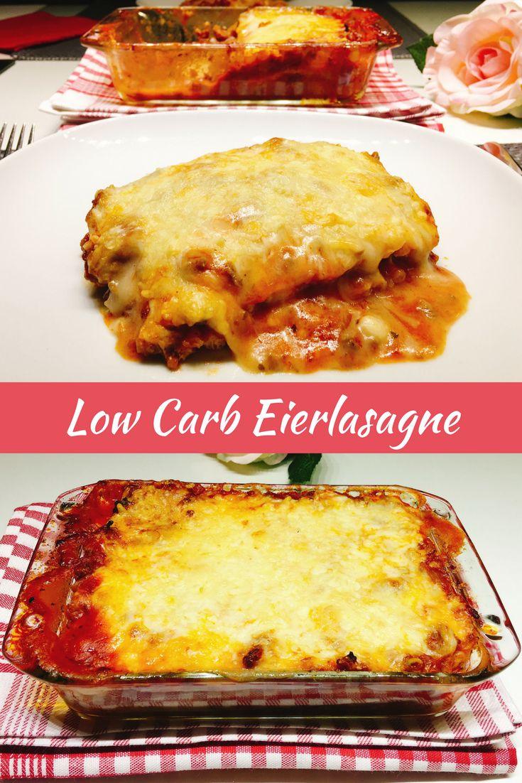 Endlich Lasagne schlemmen ohne schlechtes Gewissen. Entdecke mein Rezept für Low Carb Eierlasagne mit nur 416 Kalorien und 8,2 g Kohlenhydrate pro Portion.