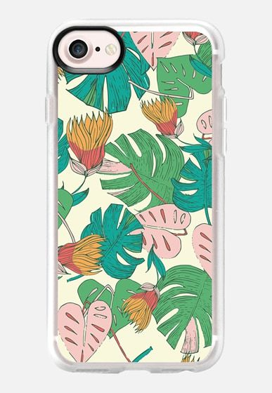 Tropical II pattern designed by Patricia Sodré for Casetify.  #tropical #pattern #iphonecase #monstera #summer #casetify #patriciasodre