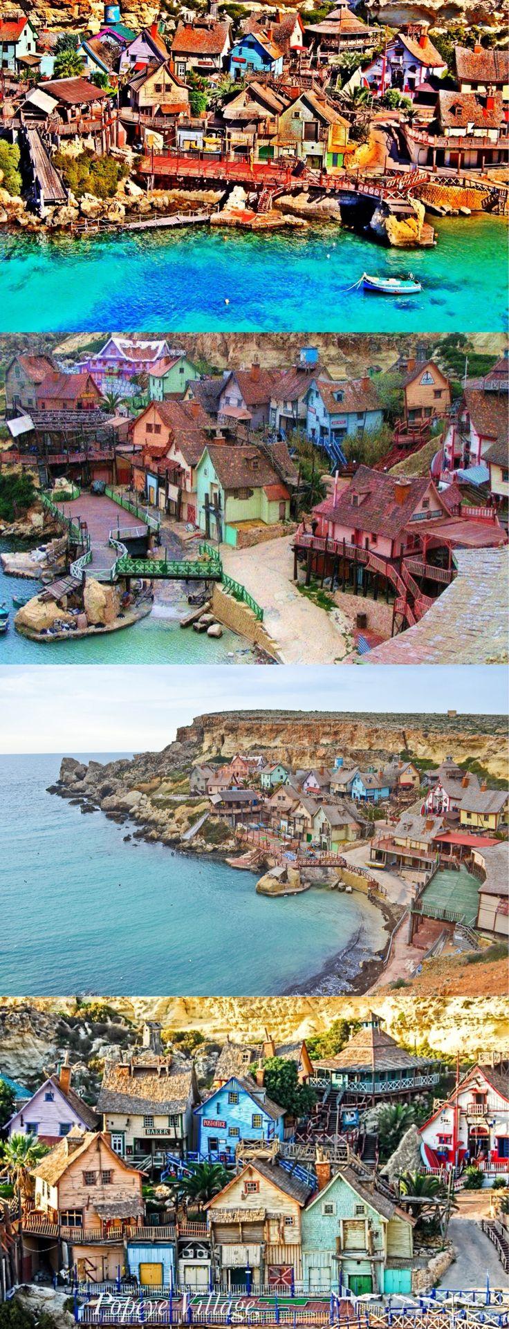 La aldea de Popeye, también conocida como aldea de Sweethaven, es un grupo de edificios rústicos y destartalados de madera situados en la bahía del ancla en la esquina del noroeste de la isla mediterránea de Malta, dos millas de la aldea de Mellieħa.