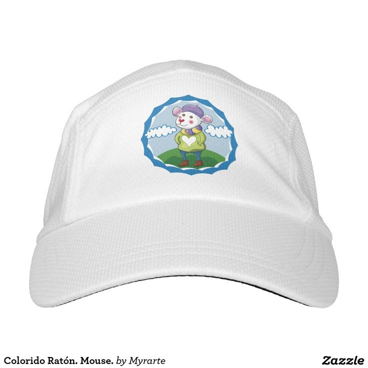 Colorido Ratón. Mouse. Producto disponible en tienda Zazzle. Accesorios, moda. Product available in Zazzle store. Fashion Accessories. Regalos, Gifts. Link to product: http://www.zazzle.com/colorido_raton_mouse_headsweats_hat-256313237742476049?CMPN=shareicon&lang=en&social=true&rf=238167879144476949 #gorra #hat #ratón #mouse
