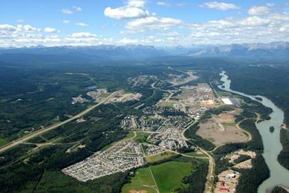 Photo of Hinton - Aerial View  #hinton #hinton alberta #hinton ab