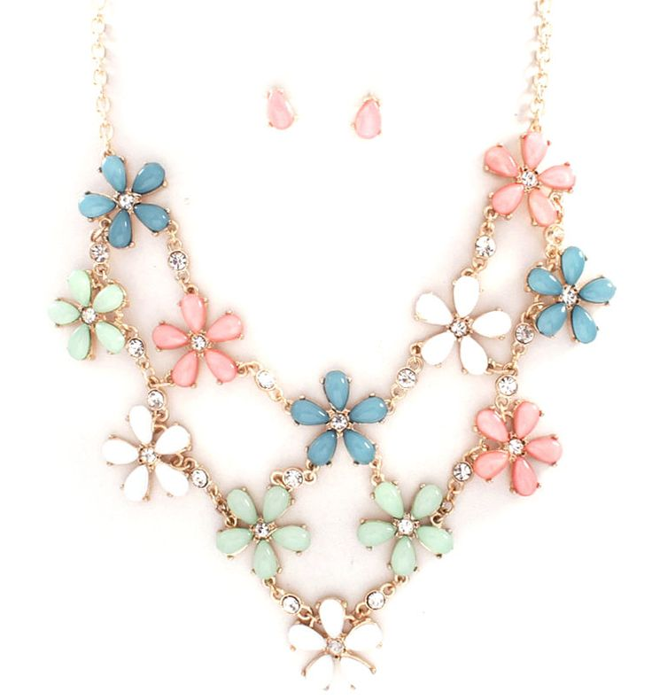 Sybella Necklace in Sweet Sorbet on Emma Stine Limited; with Easter outfit