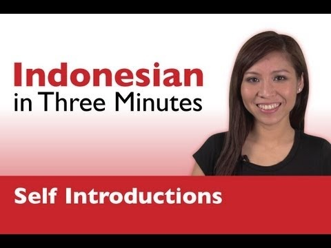 Learn Indonesian - How to Introduce Yourself in Indonesian    Visit our facebook: http://www.facebook.com/IndonesianPod101    #language #indonesia #indonesian #jakarta