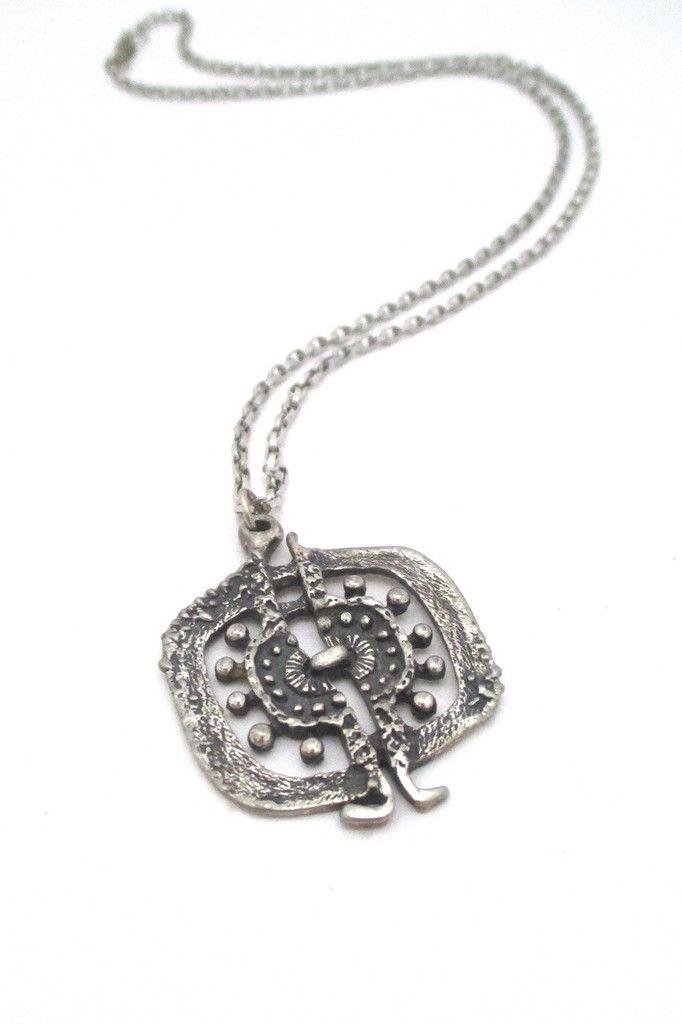 319 best canadian modernist vintage jewellery images on pinterest guy vidal brutalist openwork pendant necklace mozeypictures Gallery