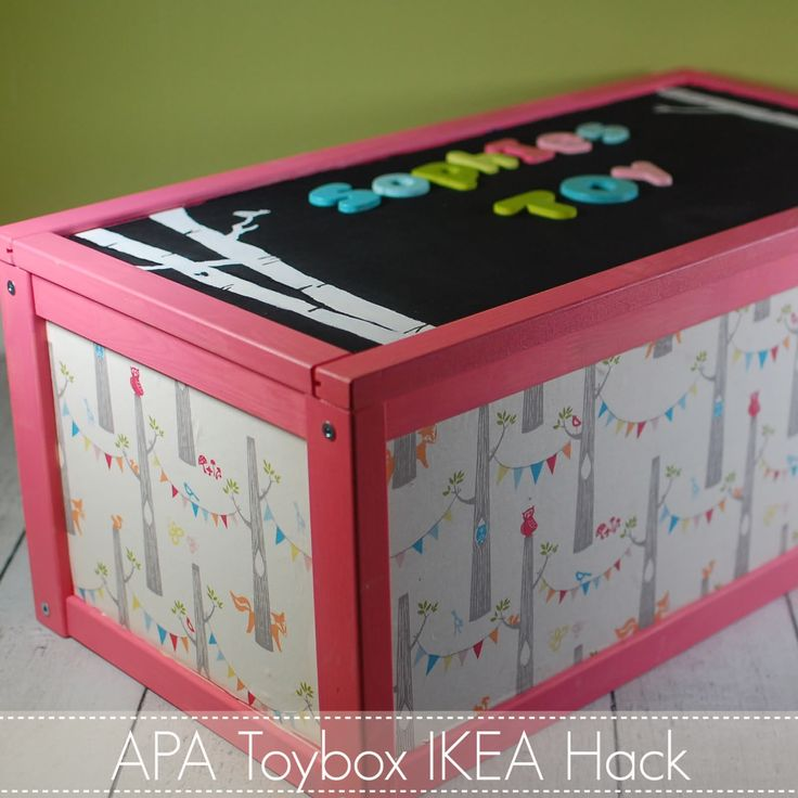 ikea hack toy box