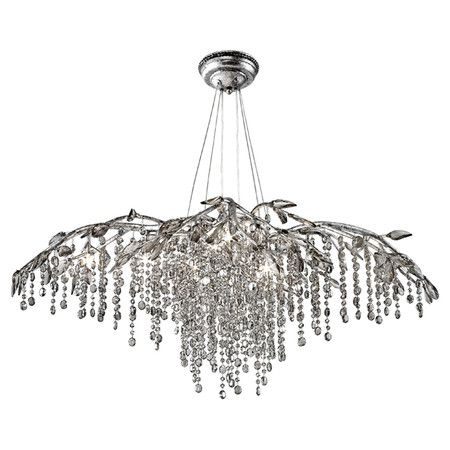 Raine Crystal Chandelier in Mystic Silver -a client just installed this in her dining room!