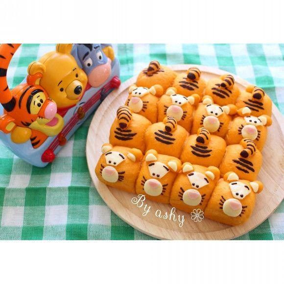 Tigger Buns! ⭐️ティガーちぎりパン ♪⭐️ #Disney #Tigger #Bread