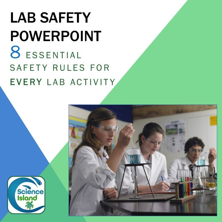 """""""8 Essential Safety Rules"""" will get your back-to-school safety lesson down to the basic guidelines that apply in EVERY lab! Simple Lab Safety PowerPoint will help your students FOCUS on what's most important. Then, you can add important details as they come up in labs throughout the year."""