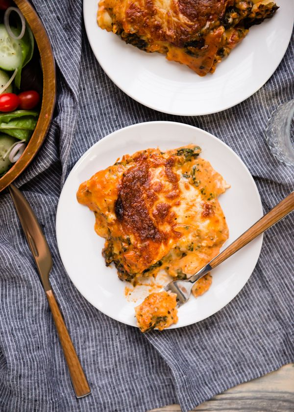 Easiest Lasagna Recipe. Made with frozen ravioli!
