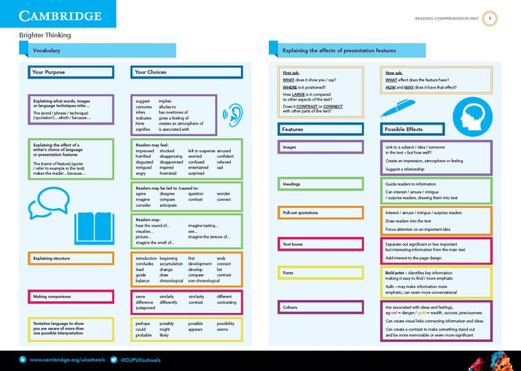 GCSE English Reading Comprehension Mat