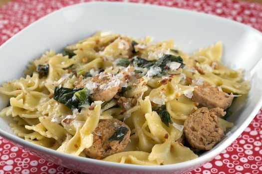 Collard Greens and Sausage Pasta