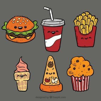 Ilustrações de fast food