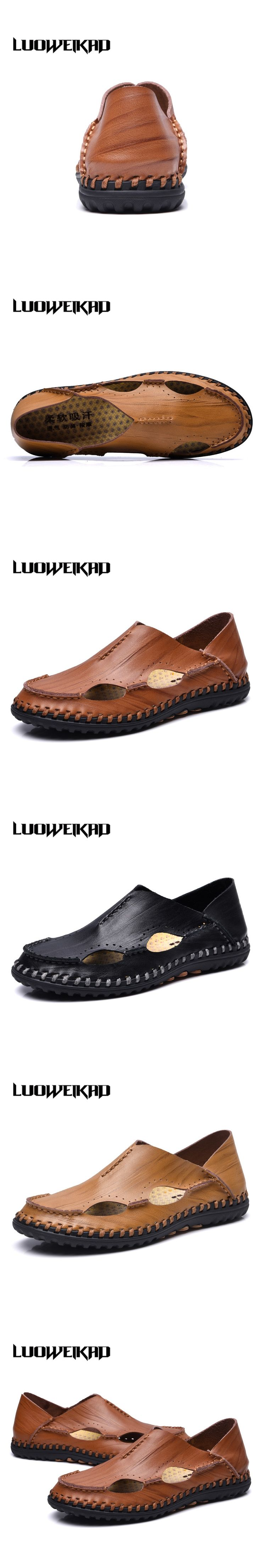 2017 Summer Fashion Zapatilles Hombre Gladiator Sandals Men rubber sandals for swimming Cow Split leather social men sandals
